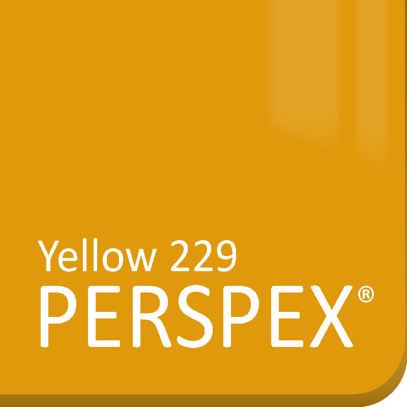 Yellow Gloss Perspex 229