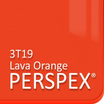 Lava Orange Fluorescent Perspex 3t19