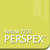 Yellow Tinted Perspex 2202