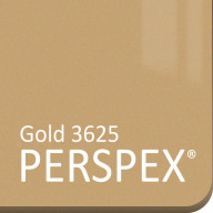 Gold Perspex Metallic 3625