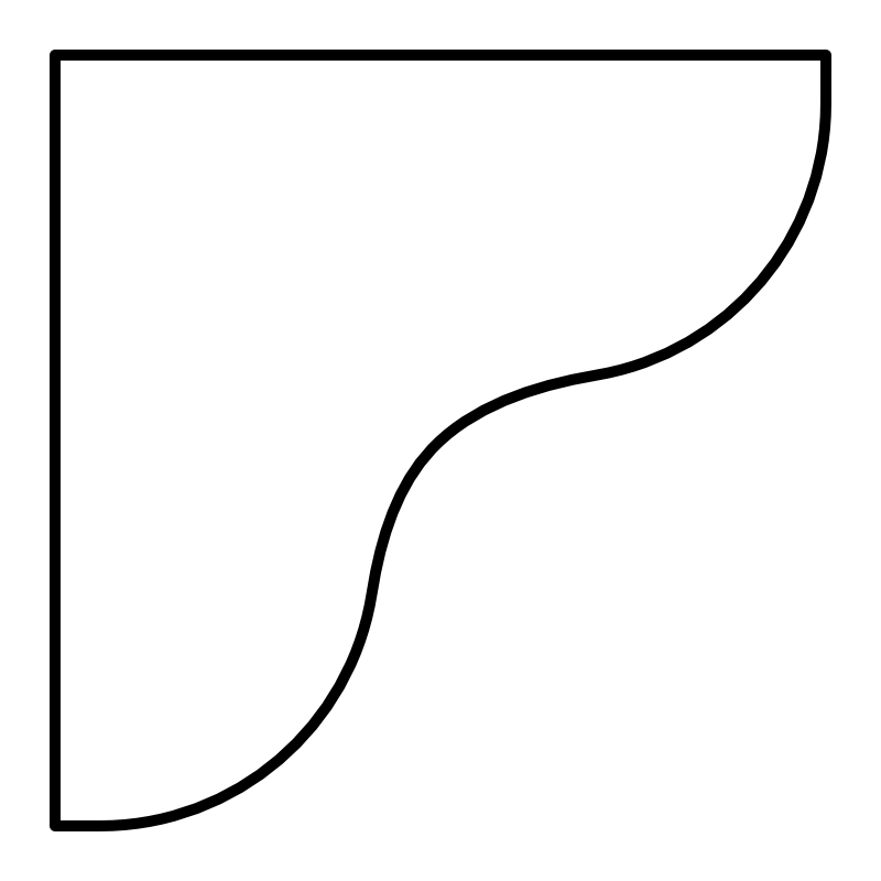 Concave Radius 50% Corners