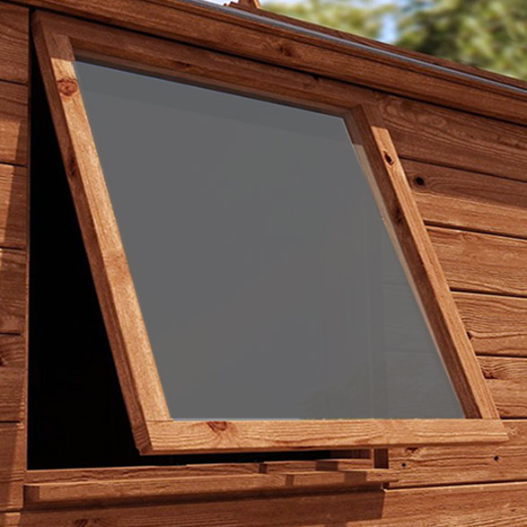 Tinted Shed Window