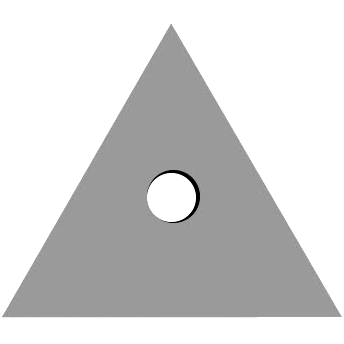 Triangle Center Hole